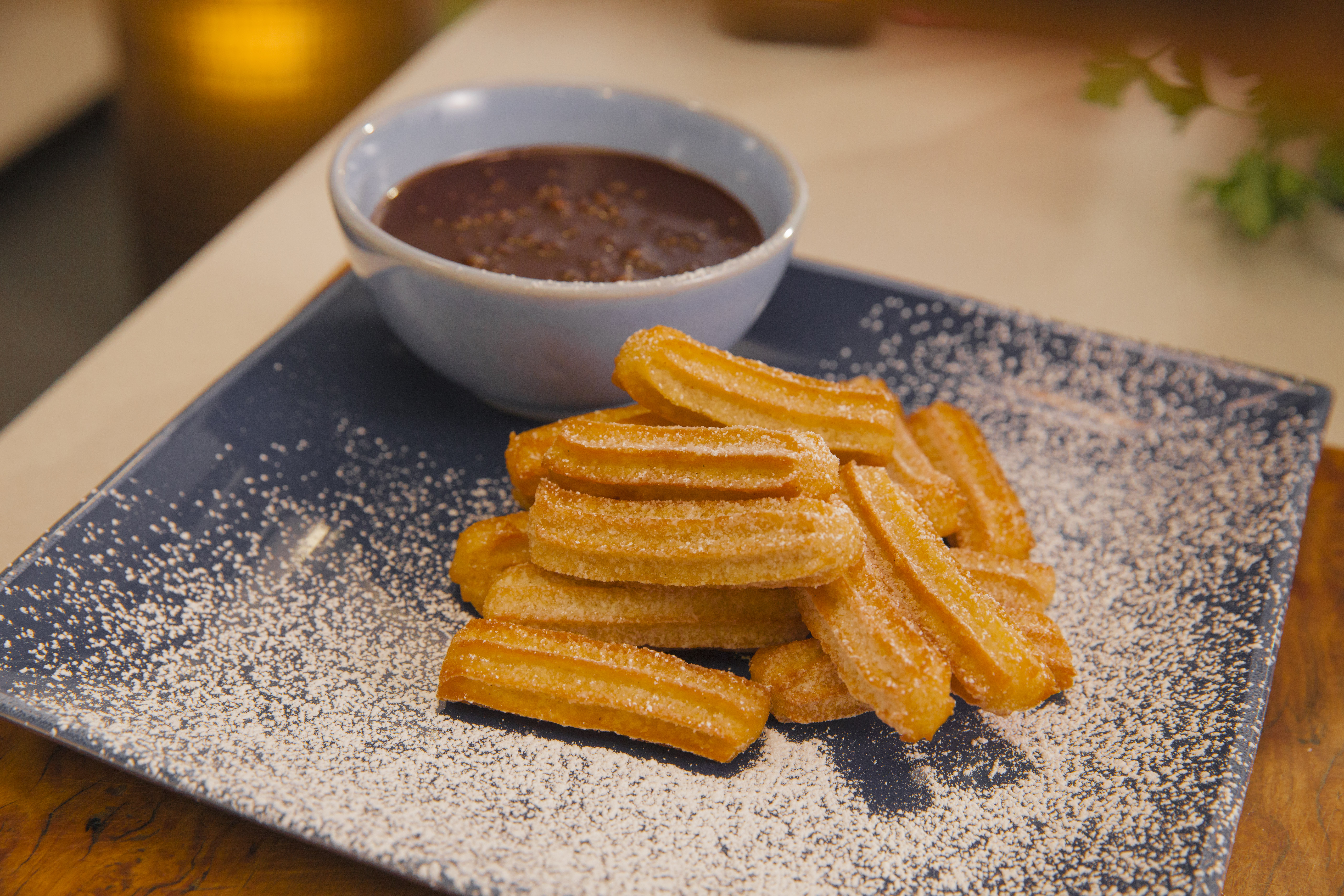 Churros with Golden Syrup Chocolate Sauce